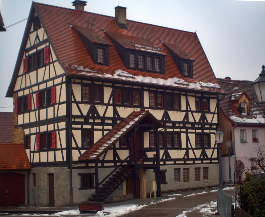 #273 Porst Weitwinkel f3.5 35mm – Fachwerkhaus in Neuffen