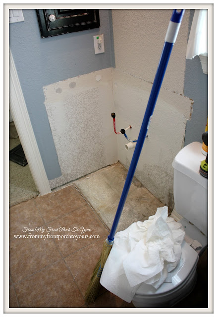 DIY-Bathroom Remodel-Farmhouse Guest Bathroom- From My Front Porch To Yours
