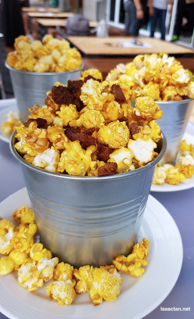 Tap It Out Popcorns! My favourite is the Oink Oink Popcorn with Bacon and Crispy Pork