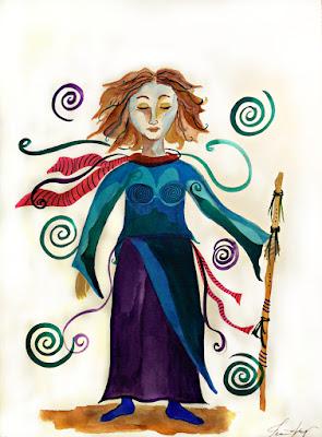 Spiritual Warrior Original Watercolor Painting Day 2 of 30 Day Art Challenge