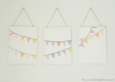 www.chiccheapnursery.com/2012/do-it-yourself/diy-idea-bunting-flag-art/