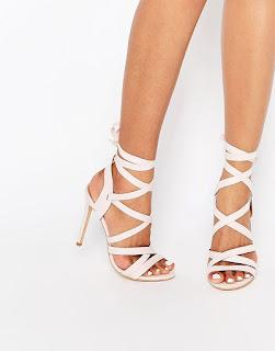 sandales talons ruban