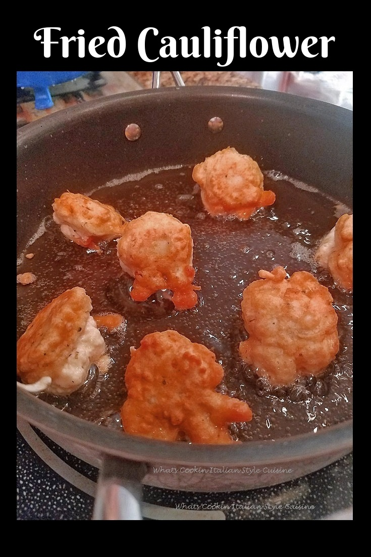 this is how to make a batter fried cauliflower recipe pan fried in vegetable oil.