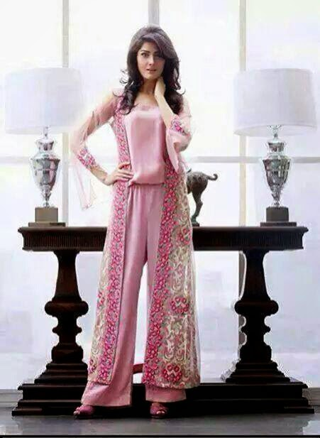 Jasmine style pink designer plazo
