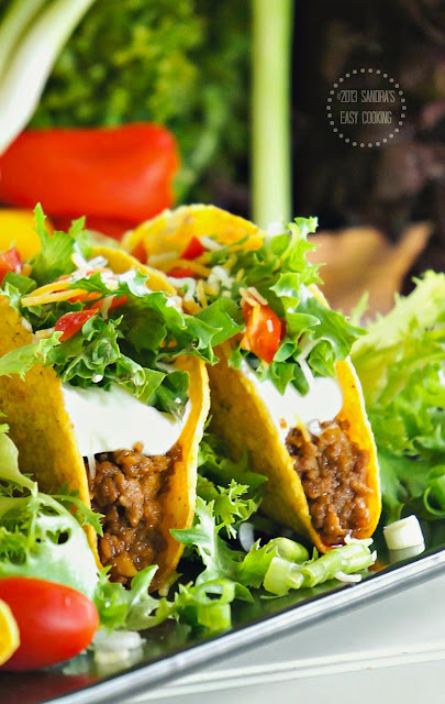 Easy and delicious recipe for beef tacos