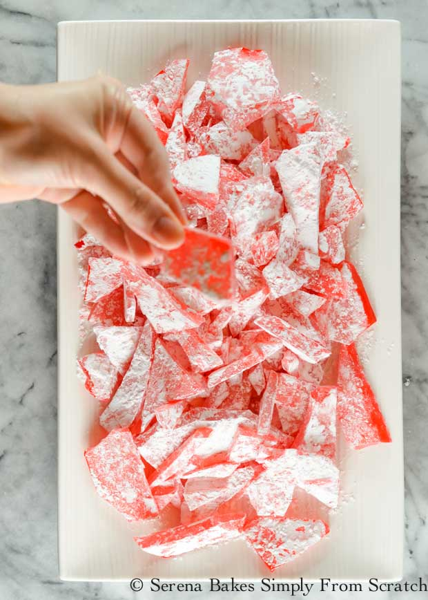 Rock Candy is so good! You can make a large variety of flavors by using different candy oils. It's a must have for Christmas, but also a favorite at Easter from Serena Bakes Simply From Scratch.