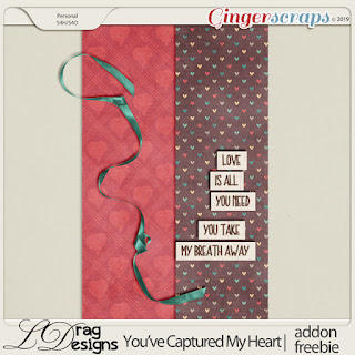 Creative Team, Annemarie, for GingerScraps – Buffet Goodies for  February (Save 50%) – You've Captured My Heart by LDrag Designs -   and Coordinating Freebie