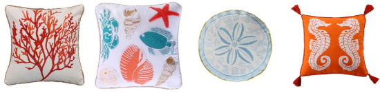 Sea Life Sand Dollar Pillow