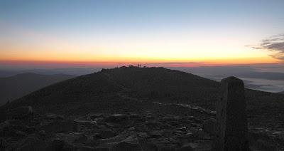 Panorama z Babiej Góry w kierunku wschodnim.