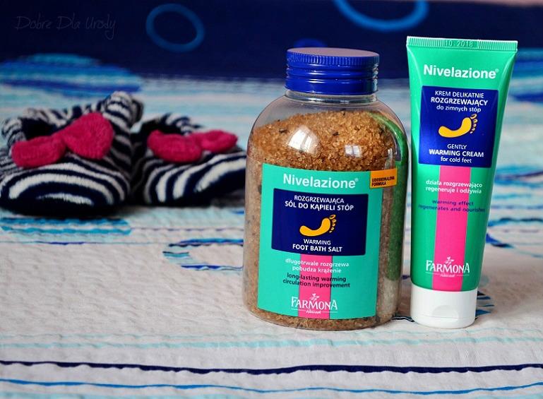 Farmona Nivelazione Rozgrzewający krem do stóp oraz Rozgrzewająca sól do kąpieli stóp