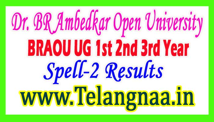 BRAOU UG 1st 2nd 3rd Year Spell-2 Results 2017