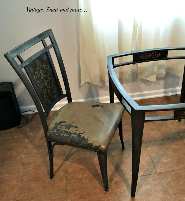 Vintage Paint And More... Thrift Store Table And Chairs Upcycled With Black  Chalk