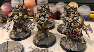 Imperial Fists Cataphractii Terminators Metallic Yellow 40k