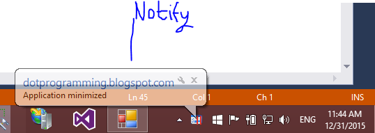 Example of NotifyIcon system tray in windows form c#