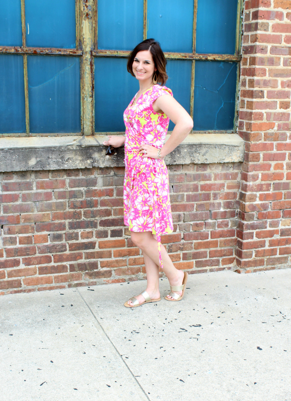 Nella Boutique, wrap dress, floral dress