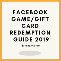 Facebook Game/Gift Card Redemption Guide 2019