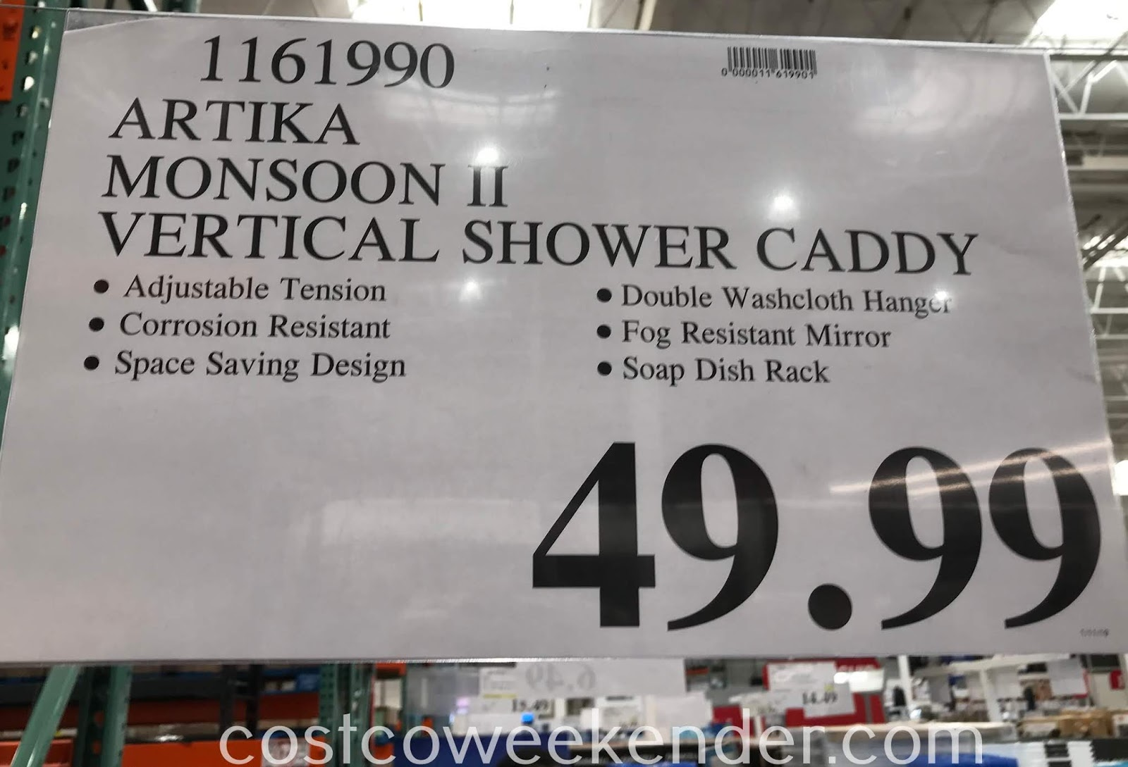 Deal for the Artika Monsoon 2 Shower Caddy at Costco