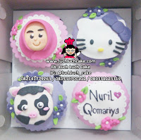 Cupcake Hello Kitty Fondant 2D