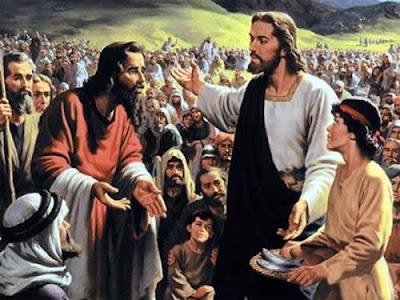 Resultado de imagem para jesus multiplicação dos pães