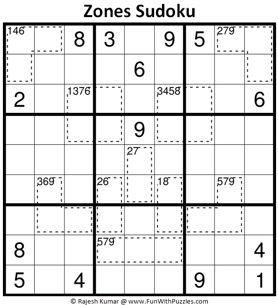 Zones Sudoku Puzzle Fun With Sudoku 387 Fun With Puzzles