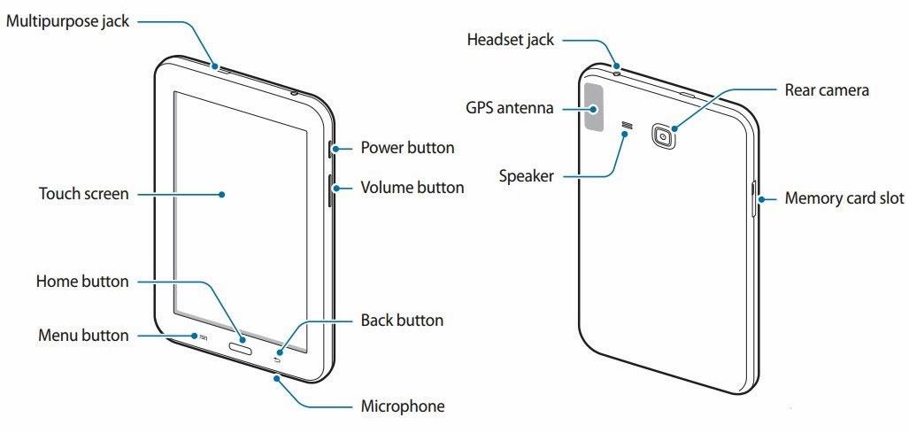 Samsung GALAXY Tab 3 Lite samt Benutzerhandbuch