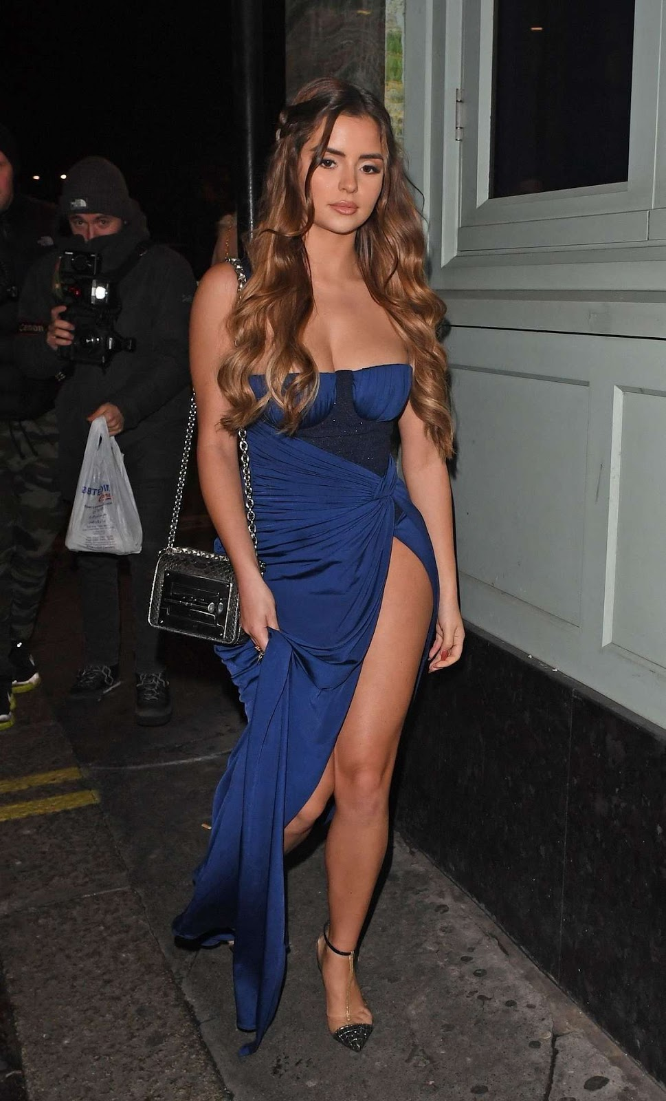 Demi Rose is feeling the blues at Sexy Fish in London!
