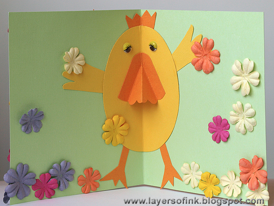 Layers Of Ink Kiddies Craft Pop Up Easter Card