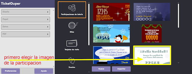 participaciones, lotería, Navidad, sorteos, plantillas, décimos