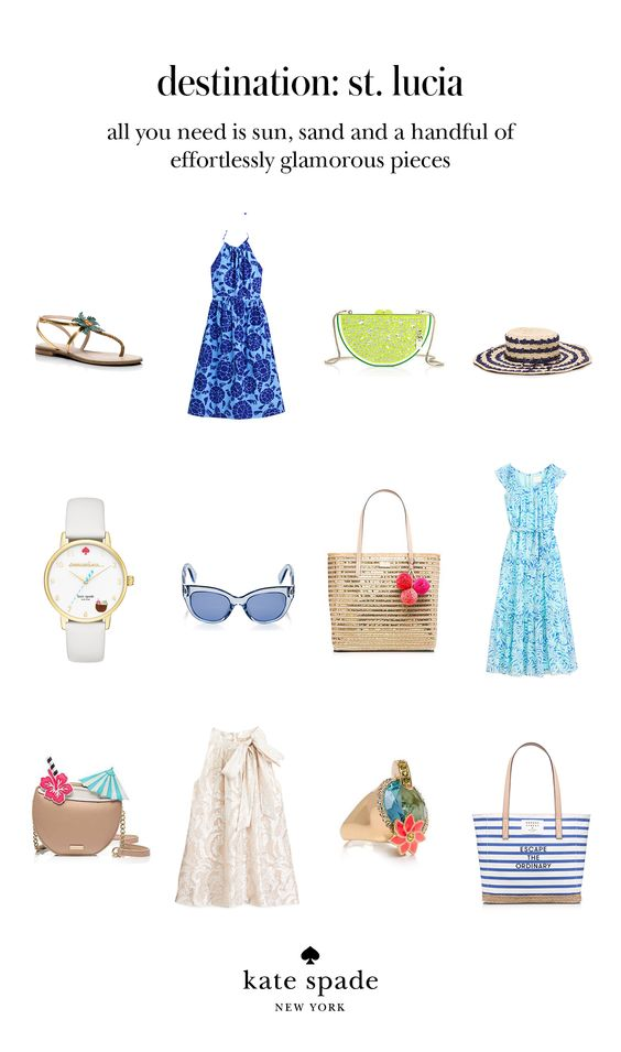 kate spade summer 2016 collection, beach wear, outfit inspiration from kate spade