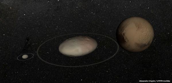 Astrônomos brasileiros descobrem anel em planeta anão vizinho de Plutão.