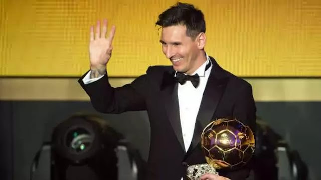 Lionel Messi Scoops FIFA Ballon d'Or Award