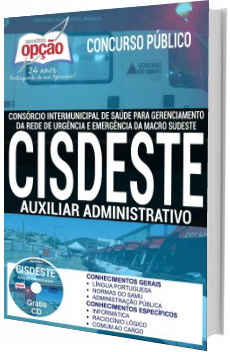 Apostila CISDESTE 2017 Auxiliar Administrativo