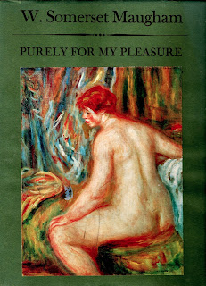 cover of the 1962 first edition of Purely for my pleasure by W. Somerset Maugham