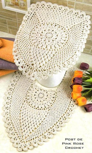 Jogos de Tapetes de Croche Para Decorar Banheiro Com Receitas e Gráficos 34