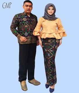 baju batik couple untuk anak muda lengan panjang