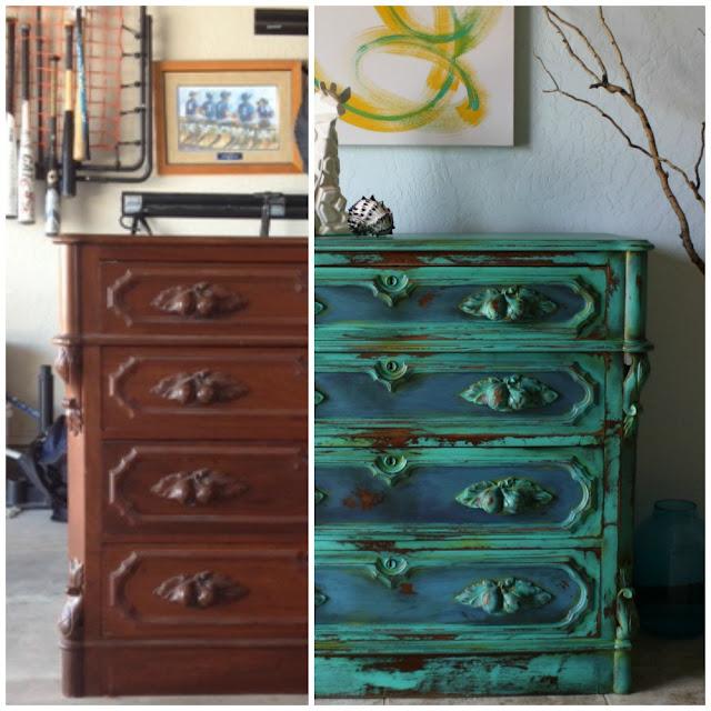 The Turquoise Iris Furniture Art Gorgeous Vintage