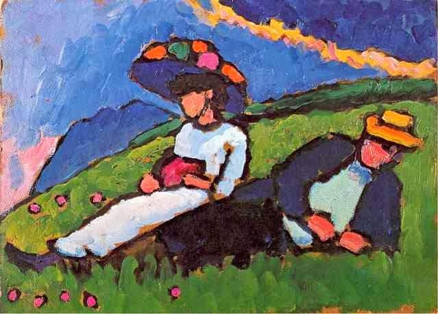 pintura de homem e mulher
