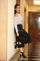 Manjusha in sleevelss crop top and black skirt at Darshakudu pre release ~  Exclusive Celebrities Galleries 046.JPG