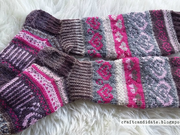 Sydänsukat - Heart socks