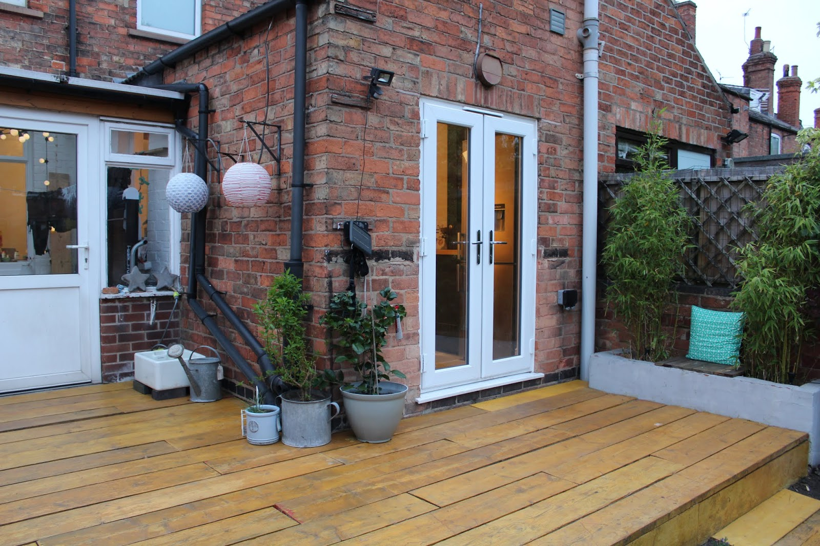 Scaffold Decking with Stain