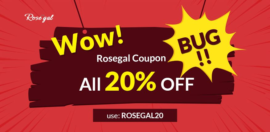 Wow! Rosegal coupon bug All 20% off use: rosegal20