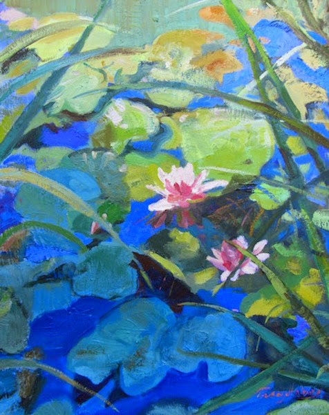 Tracy Haines Fine Art Oil paintings wall art daily paintings Lily Pond quotes and tips