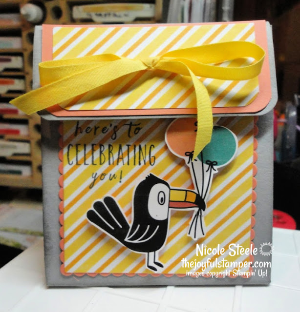 Birthday Bonanza | Stampin' Up! | party favors | flap top box | mini boxes | Nicole Steele The Joyful Stamper