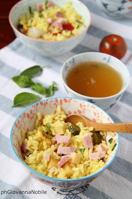 Insalata di riso con prosciutto cotto al basilico Lenti
