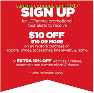 JCPenney coupons april 2017