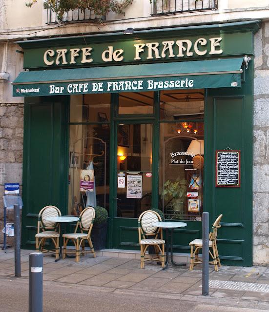 the traveler 39 s drawer caf de france bar brasserie grenoble france. Black Bedroom Furniture Sets. Home Design Ideas