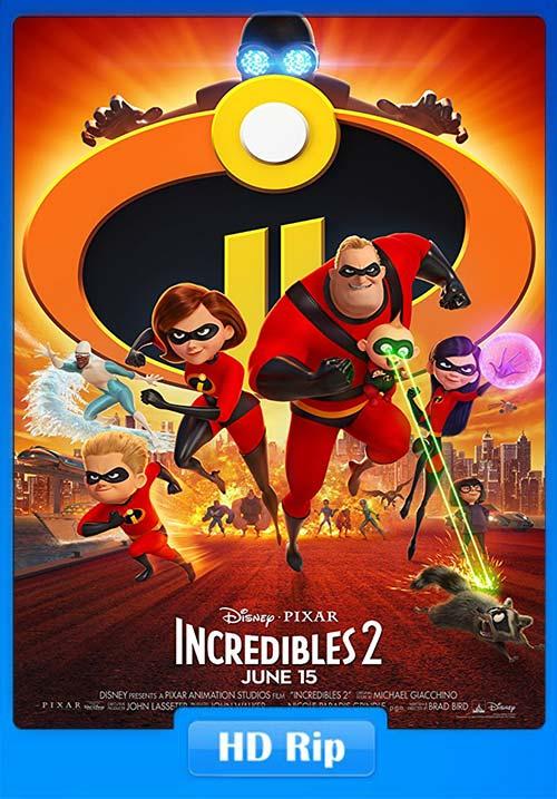 Incredibles 2 2018 HDRip 720p HQ Clean Hindi Telugu Tamil Eng x264 | 480p 300MB | 100MB HEVC