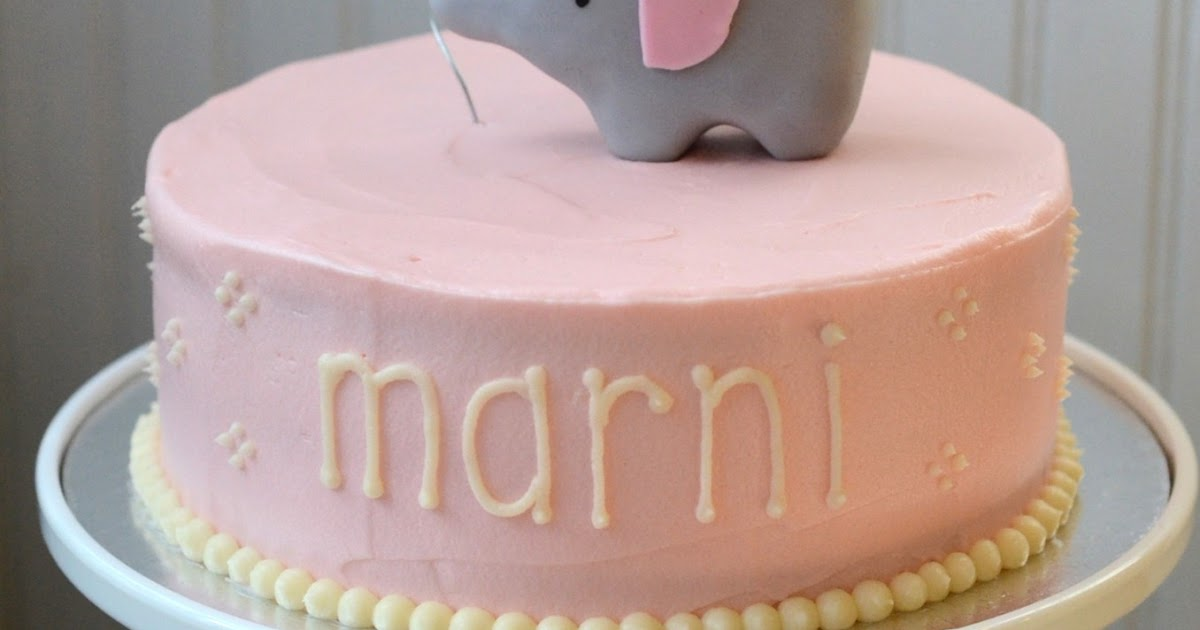 Baby Shower Cakes With Elephants ~ I heart baking elephant baby shower cake
