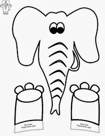 Atividades de Artes - Elefante