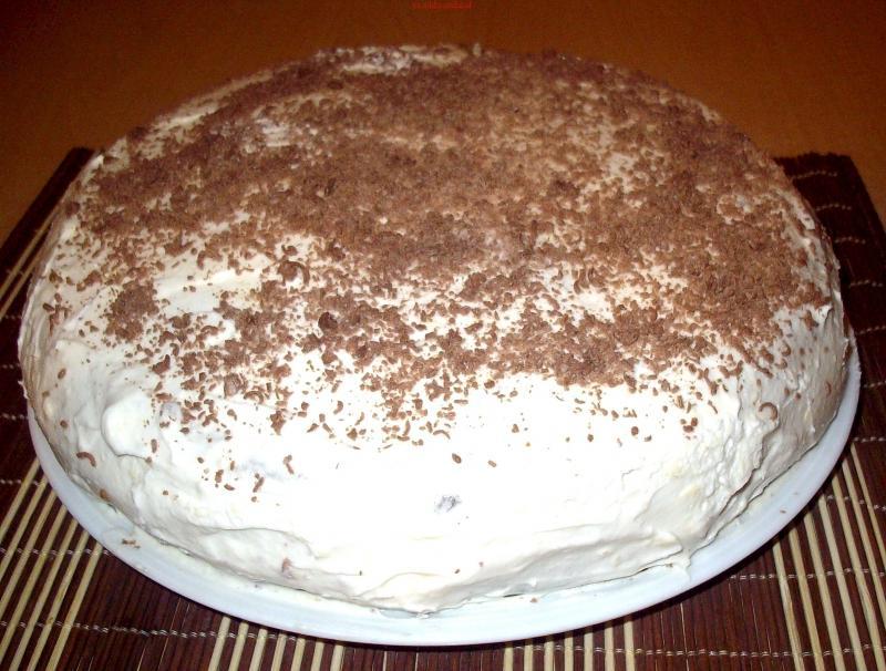 Простой рецепт торта со сметаной фото пошагово